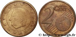 EUROPEAN CENTRAL BANK 2 centimes d'euro, face nationale belge, frappe monnaie 2000