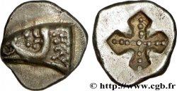 MASSALIA - MARSEILLES Obole à la tête de bélier à gauche et au carré creux orné, du type du trésor d'Auriol