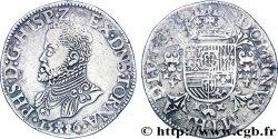 PAYS-BAS ESPAGNOLS - TOURNAI - PHILIPPE II DESPAGNE Écu philippe ou daldre philippus 1586 Tournai AU/XF