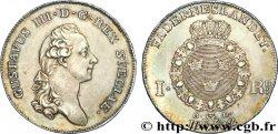 SUÈDE - ROYAUME DE SUÈDE - GUSTAVE III Riksdaler, 3e type 1782 Stockholm MBC+/EBC