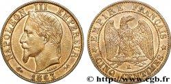 Cinq centimes Napoléon III, tête laurée 1863 Bordeaux F.117/10 EF