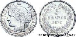 5 francs Cérès, sans légende, M à 11 heures 1870 Bordeaux F.332/4 AU