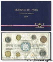 Boîte Fleur de Coins 1974  F.5000 16 UNC