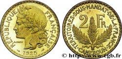 2 francs, Cameroun, Territoires sous mandat français - Pré-série de Morlon, poids lourd, 10 grammes 1925 Paris Lecompte11 FDC