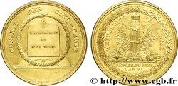DIRETTORIO Médaille BR doré, Conseil des Cinq-Cents XF
