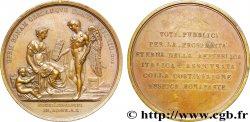 ITALIE - GAULE SUBALPINE Médaille BR 54, Constitution de la République italienne à Lyon TTB