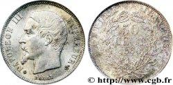 50 centimes Napoléon III, tête nue, différent croix 1860 Strasbourg F.187/15 MS