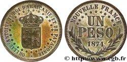 ROYAUME DARAUCANIE ET DE PATAGONIE - ORÉLIE-ANTOINE Ier Piéfort en bronze de Un peso 1874  MS