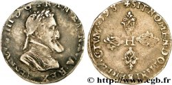 HENRY IV Demi-franc, type de Troyes 1598 Troyes