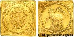 GERMANIA - WURZBURG Demi-ducat, flan carré, refrappe 1700 Nuremberg