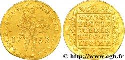 NETHERLANDS - HOLLAND Ducat dor au chevalier 1753 Dordrecht