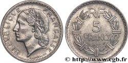 5 francs Lavrillier, aluminium, 9 fermé 1948  F.339/14 AU