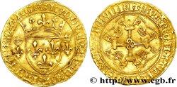 LOUIS XI THE PRUDENT Écu dor à la couronne ou écu neuf 31/12/1461 Rouen XF