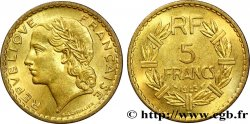 5 francs Lavrillier, bronze-aluminium 1945 Castelsarrasin F.337/6 SUP