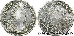LOUIS XIV THE SUN KING Écu aux trois couronnes 1709 Montpellier VF