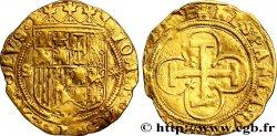 ESPAGNE - ROYAUME DESPAGNE - JEANNE ET CHARLES Écu d'or, escudo n.d. Séville BC+