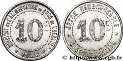 SYNDICAT DE L'ALIMENTATION EN GROS DE L'HERAULT 10 Centimes