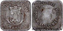 VILLE D'ALBI 25 Centimes