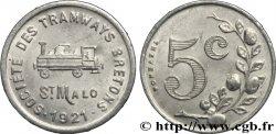 SOCIETE DES TRAMWAYS BRETONS 5 Centimes