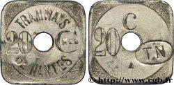 TRAMWAYS DE NANTES 20 Centimes