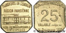 TRANSPORTS EN COMMUN REGION PARISIENNE 25 Centimes
