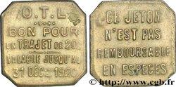 O.T.L. (La compagnie des Omnibus et Tramways de Lyon) 20 Centimes XF