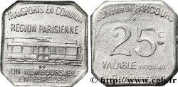 TRANSPORTS EN COMMUN REGION PARISIENNE 25 Centimes