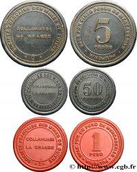 SOCIÉTÉ FRANÇAISE DES MINES DE CUIVRE 50 Centavos, 1 Peso et 5 Pesos