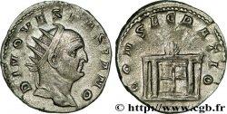 DIVI konsekrationsprägungen des TRAIANUS DECIUS Antoninien VZ