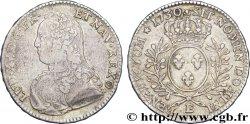 LOUIS XV THE WELL-BELOVED Demi-écu dit aux branches dolivier 1730 Tours