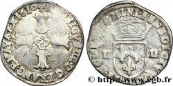 HENRI IV LE GRAND Quart décu, croix feuillue de face 1610 Bayonne