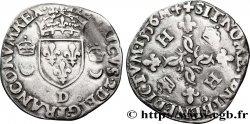 HENRI II Douzain aux croissants 1556 Lyon