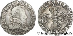 HENRI III Quart de franc au col plat 1586 Bordeaux