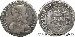 FRANÇOIS II. MONNAYAGE AU NOM DHENRI II Demi-teston à la tête nue, 6e type 1560 Montpellier