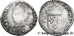 CHARLES IX Demi-teston, 2e type 1564 La Rochelle