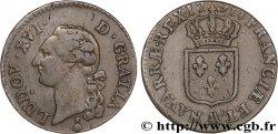 LOUIS XVI Sol dit à lécu 1791 Metz