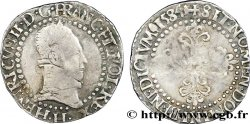 HENRI III Quart de franc au col plat 1584 La Rochelle