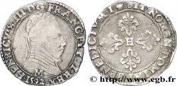 LA LIGUE. MONNAYAGE AU NOM DHENRI III Demi-franc au col plat 1592 Toulouse