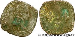 HENRY III Double tournois, 2e type du Dauphiné 1586 Grenoble