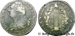 LOUIS XVI 2 sols dit au faisceau, type FRANÇOIS 1792 La Rochelle