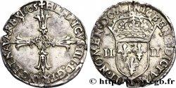 HENRI IV LE GRAND Quart décu, croix feuillue de face 1605 Nantes