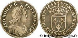 LOUIS XIV THE SUN KING Douzième décu à la mèche courte 1644 Paris, Monnaie de Matignon