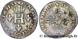HENRI II Double sol Parisis, ou six blancs ou gros de Nesle 1550 Paris, Moulin de Nesle