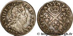 LOUIS XIV THE SUN KING Cinq sols aux insignes 1704 Strasbourg VF