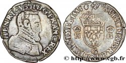 HENRI II Teston à la tête nue, 1er type 1553 Poitiers