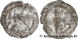 HENRI III Demi-franc au col plat 1587 Nantes