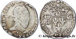 HENRI III Teston, 4e type 1575 Rennes
