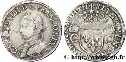 CHARLES IX Teston, 2e type 1562 La Rochelle