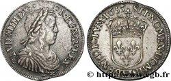 LOUIS XIV THE SUN KING Demi-écu à la mèche longue 1653 Tours