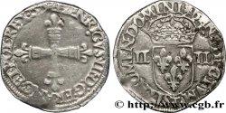 HENRI III Quart décu, croix de face 1579 Nantes